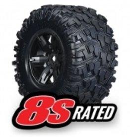 Traxxas Traxxas X-Maxx Tires & wheels, assembled, glued (X-Maxx® black wheels, Maxx® AT tires, foam inserts) (left & right) (2)