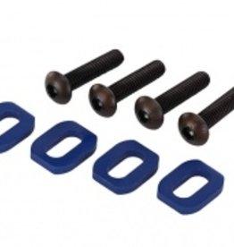 Traxxas Traxxas X-Maxx Washers, motor mount, aluminum (blue-anodized) (4)/ 4x18mm BCS (4)