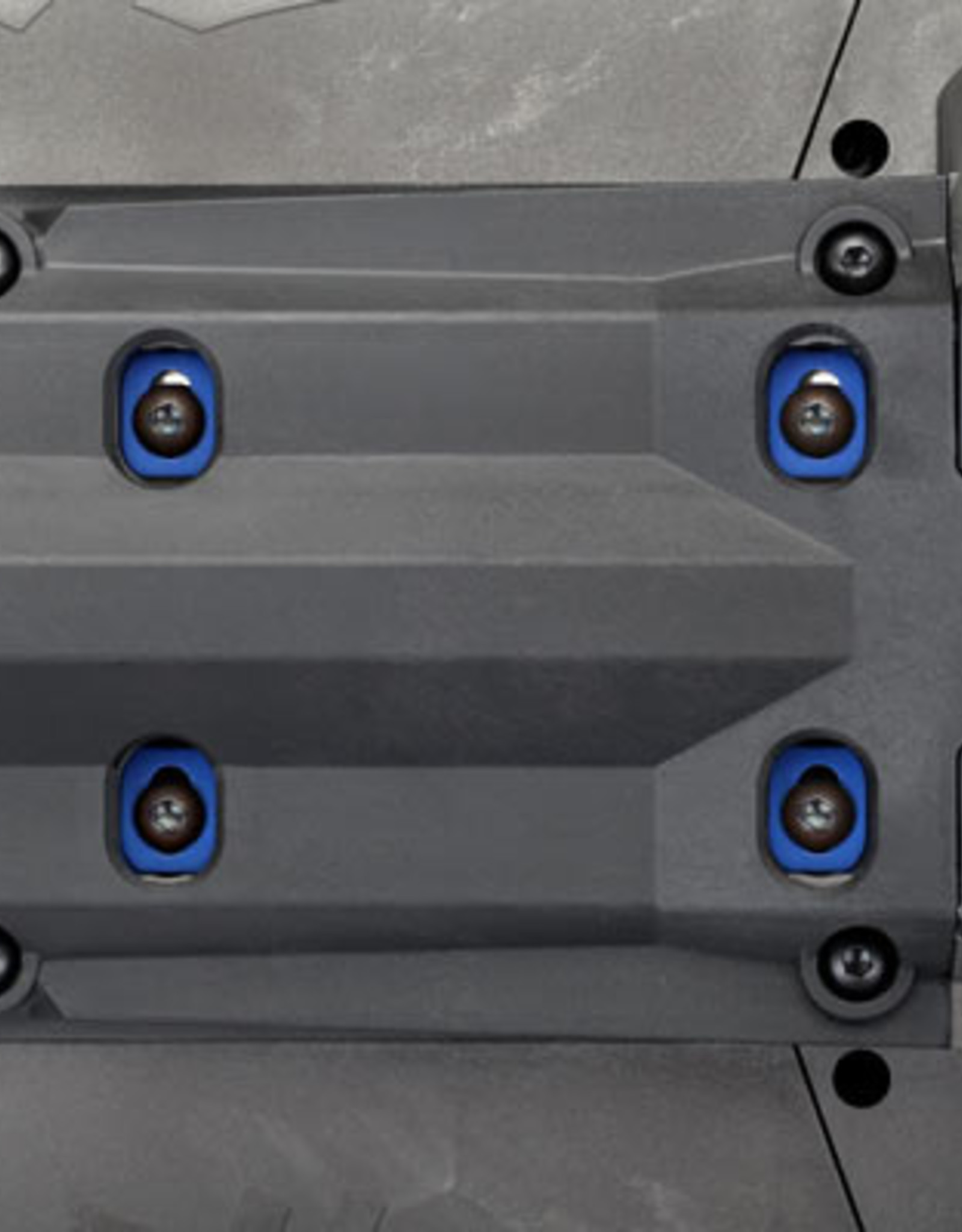 Traxxas Traxxas X-Maxx Washers, motor mount, aluminum (green-anodized) (4)/ 4x18mm BCS (4)