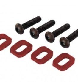 Traxxas Traxxas X-Maxx Washers, motor mount, aluminum (red-anodized) (4)/ 4x18mm BCS (4)