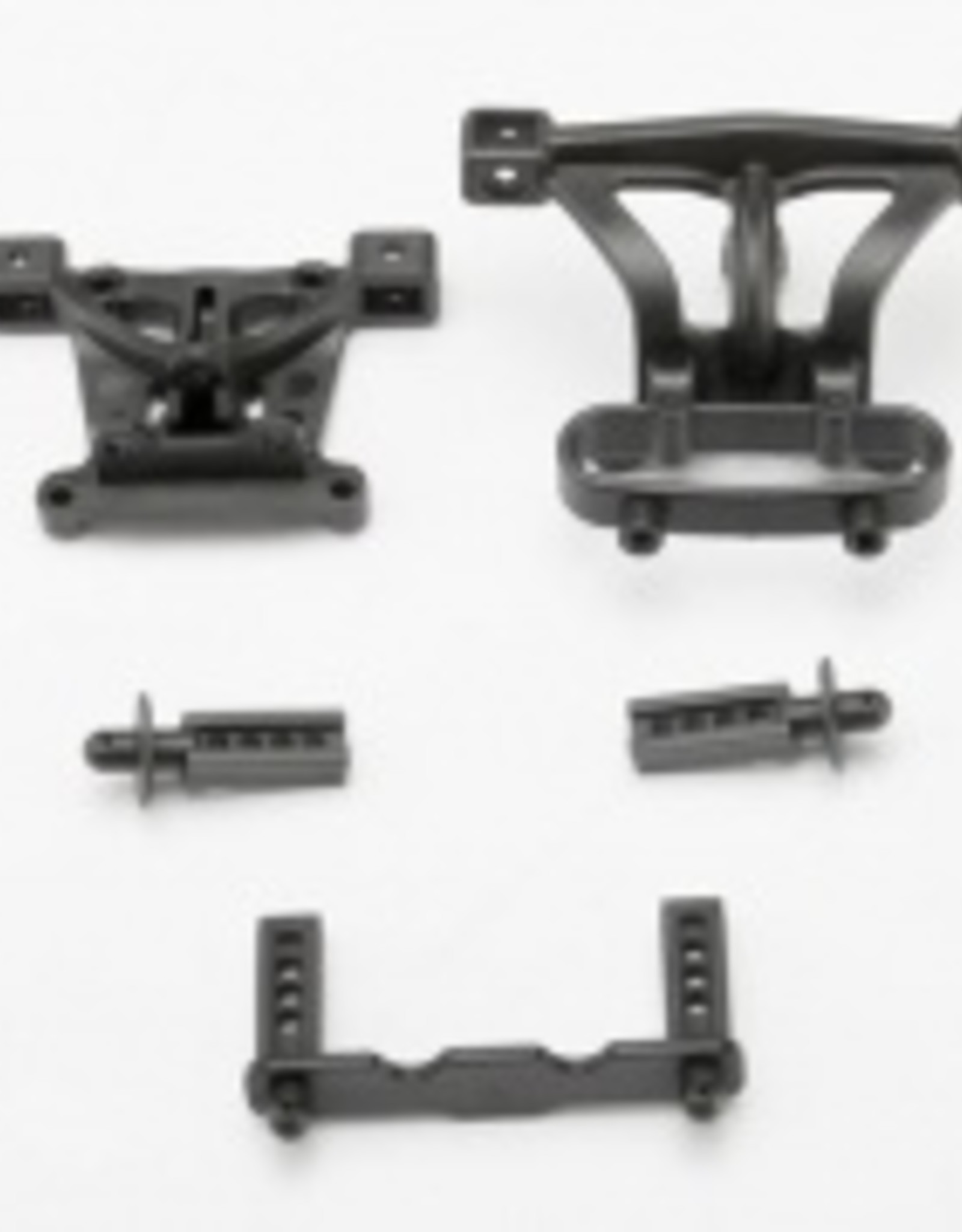 Traxxas Traxxas 1/16 Body mounts, front & rear/ body mount posts, front & rear