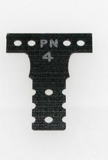 Pn Racing PN Racing Mini-Z MR03 MM G10 Black Fiber Glass T-Plate #4
