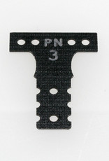 Pn Racing PN Racing Mini-Z MR03 MM G10 Black Fiber Glass T-Plate #3