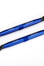 Traxxas Traxxas X-Maxx Toe links, X-Maxx® (TUBES blue-anodized, 7075-T6 aluminum, stronger than titanium) (157mm) (2)/ rod ends, assembled with steel hollow balls (4)/ aluminum wrench, 10mm (1)