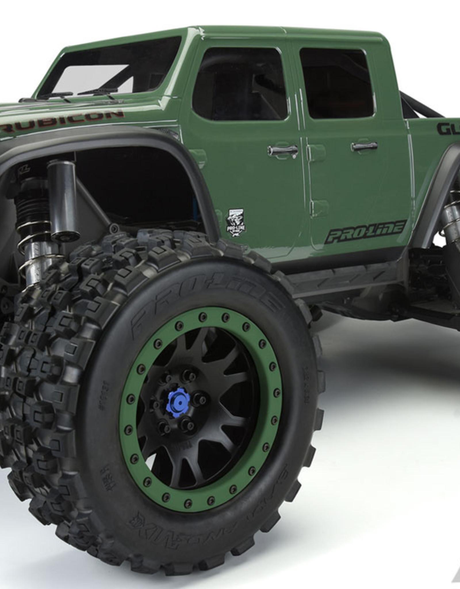 Proline RC Pro-line X-Maxx Pre-Cut Jeep Gladiator Rubicon Clear Body