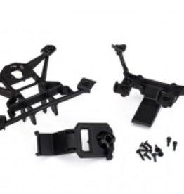 Traxxas Traxxas X-Maxx Body mounts, front & rear/3x15mm BCS (1)/ 3x12mm shoulder screw (2)/ 3x10mm flat-head machine screw (6)/ 3x15mm flat-head machine screw (2)