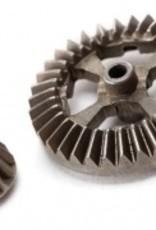 Traxxas Latrax Teton/ SST Ring gear, differential/ pinion gear, differential (metal)