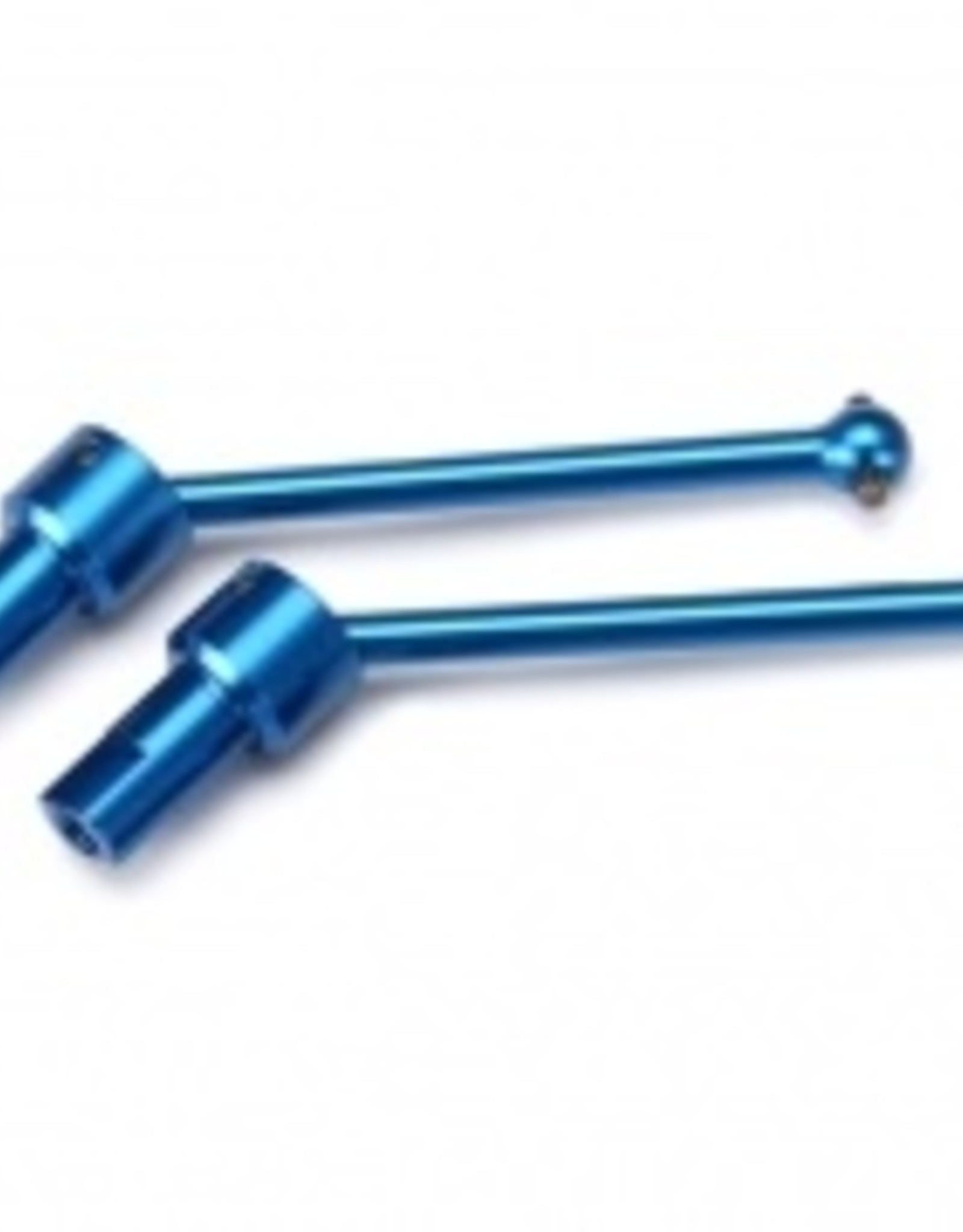 Traxxas LaTrax Teton/ SST Driveshaft assembly, front & rear, 6061-T6 aluminum (blue-anodized) (2)
