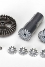 Traxxas LaTrax Teton Gear set, differential, metal (output gears (2)/ spider gears (4)/ ring gear, 35T (1)/ 2x14.8mm pin (1))