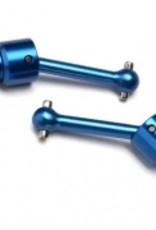 Traxxas LaTrax Rally Driveshaft assembly, front/rear, 6061-T6 aluminum (blue-anodized) (2)