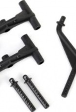 Traxxas LaTrax Rally Body mounts, front & rear / body mount posts, front & rear