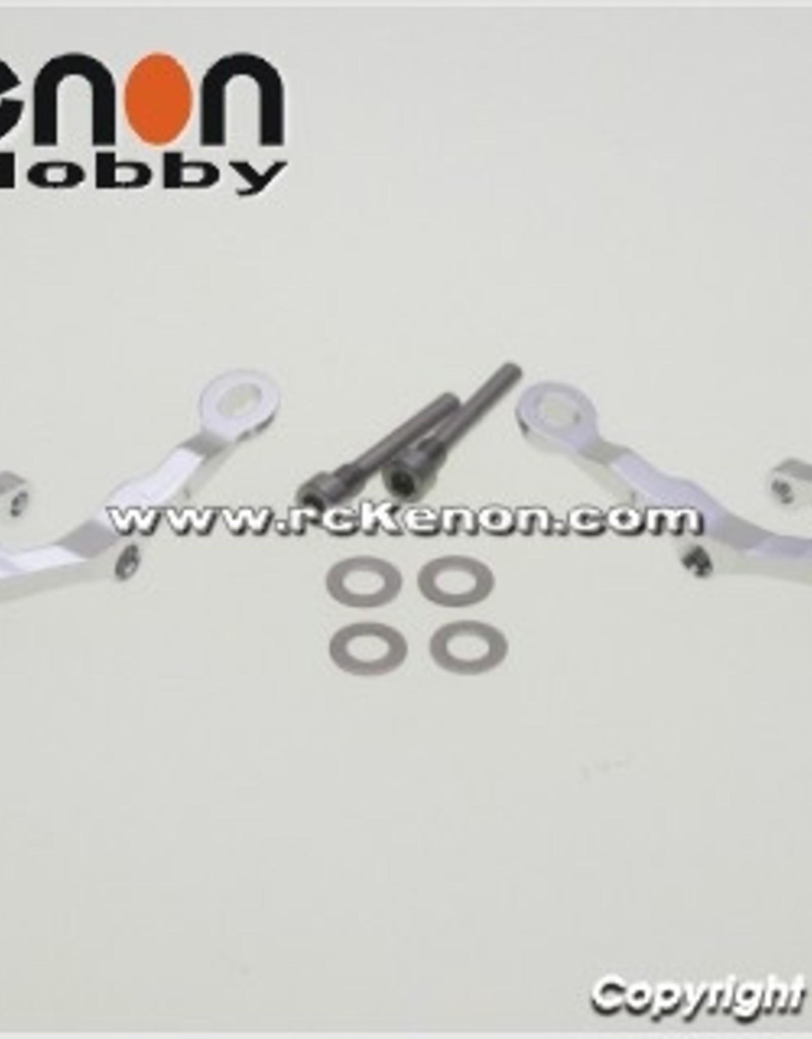 Pn Racing PN Racing Mini-Z MR03 Alum Caster Upper Arm 0 Camber (Silver)