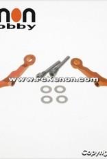 Pn Racing PN Racing Mini-Z MR03 Alum Caster Upper Arm 0 Camber (Orange)