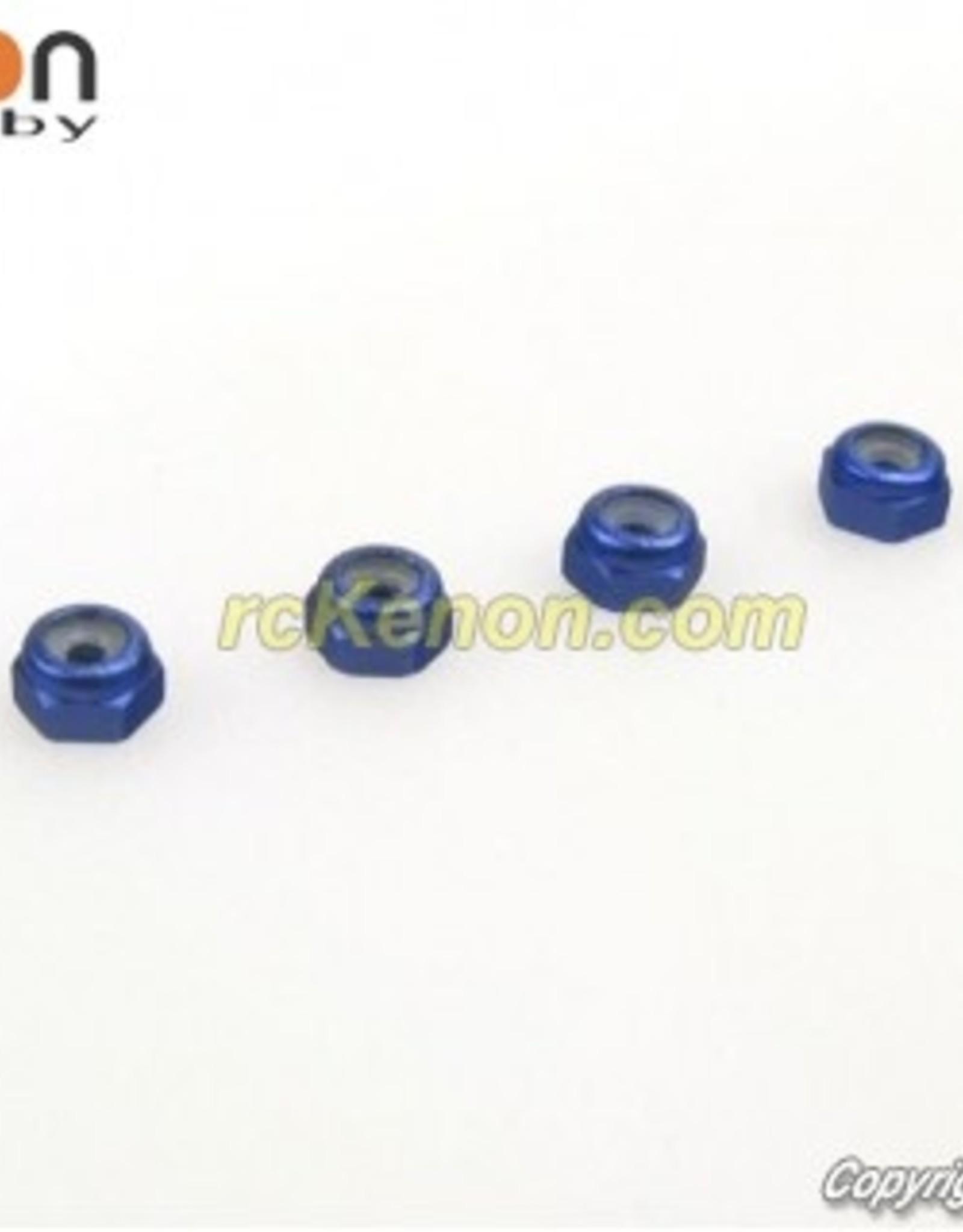 Pn Racing PN Racing Mini-Z Alm. 2mm Wheel Lock Nut - Blue