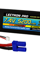 Lectron Pro Lectron Pro 7.4V 5200 35c Lipo Battery with EC5 Connector for 1/10th Scale Cars & Trucks (26A)