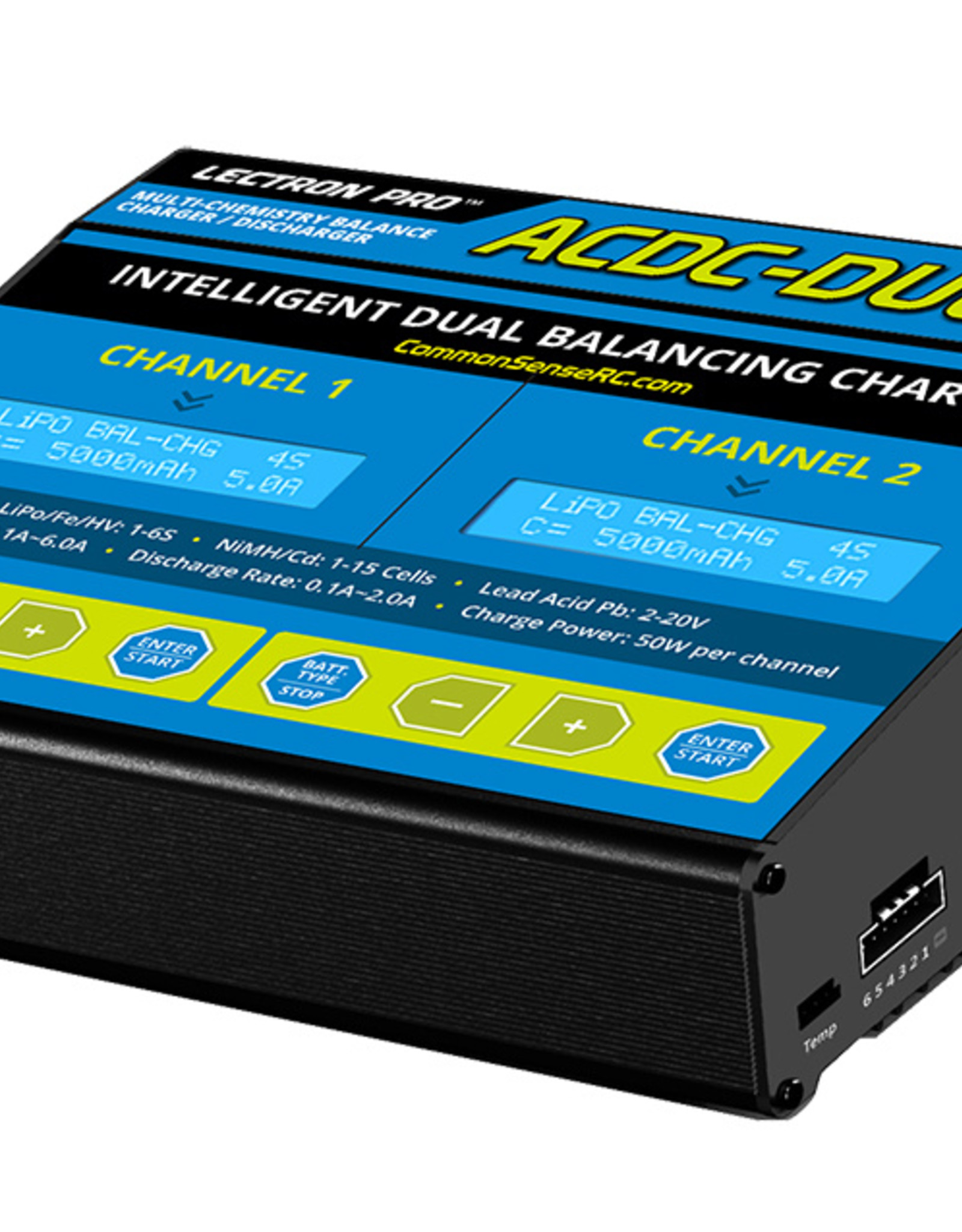Lectron Pro ACDC-DUO - Two-Port Multi-Chemistry Balancing Charger (LiPo/LiFe/LiHV/NiMH) #ACDC-DUO