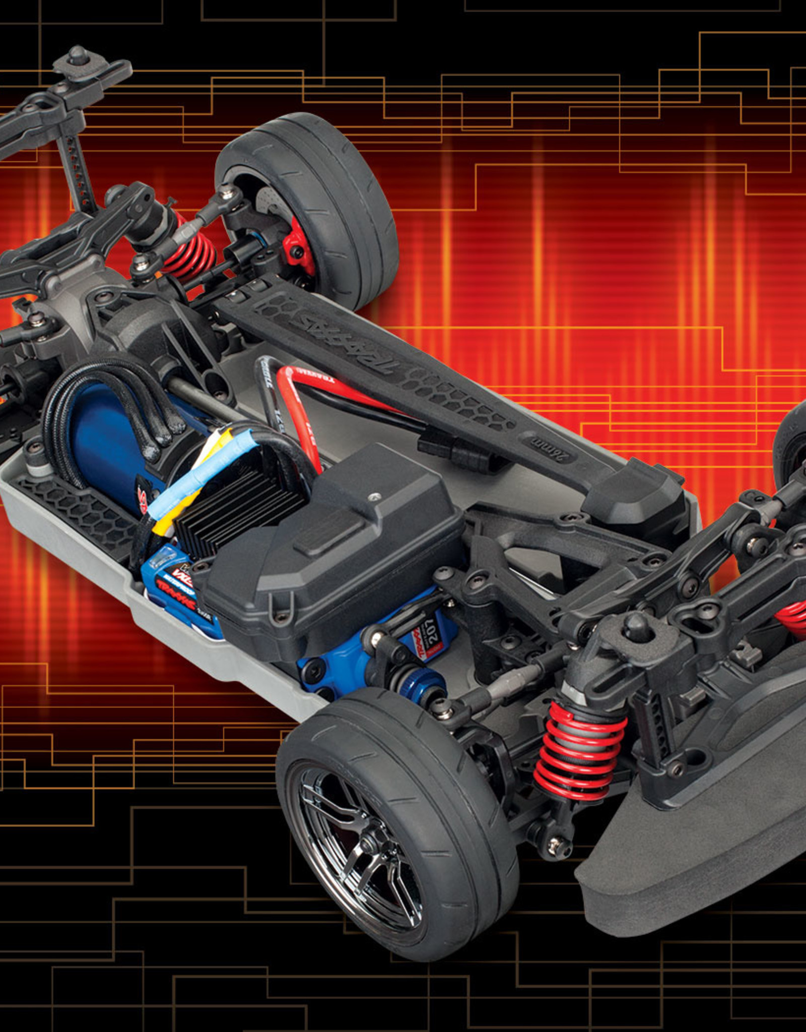 Traxxas Traxxas 4-Tec 2.0 VXL AWD Chassis, 1/10 Scale, Fully-Assembled, Waterproof, and with TQi 2.4GHz Radio System, Traxxas Stability Management (TSM), and Velineon Brushless Power System