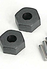 Traxxas Traxxas Wheel hubs, hex (2)/ stub axle pins (2) TRA1654