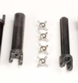 Traxxas Traxxas Half shafts, long truck (external-splined (2) & internal-splined (2)/ metal U-joints (4) TRA1951