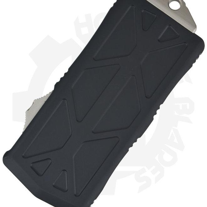 Microtech Exocet D/E Stonewash 157-10 - Black (Auto OTF Knife)