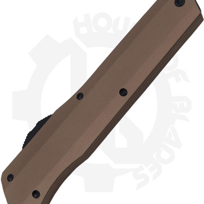 Microtech Cypher D/E Black Std 242S-1TA - Tan (Auto OTF Knife)