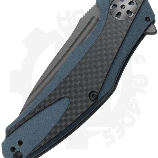 Kershaw Natrix Carbon Fiber 7007CF - Black, Blue (Manual Flipper Knife)