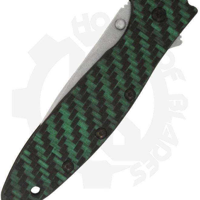 Kershaw 1660GLCF Leek Carbon Fiber Manual Flipper Knife