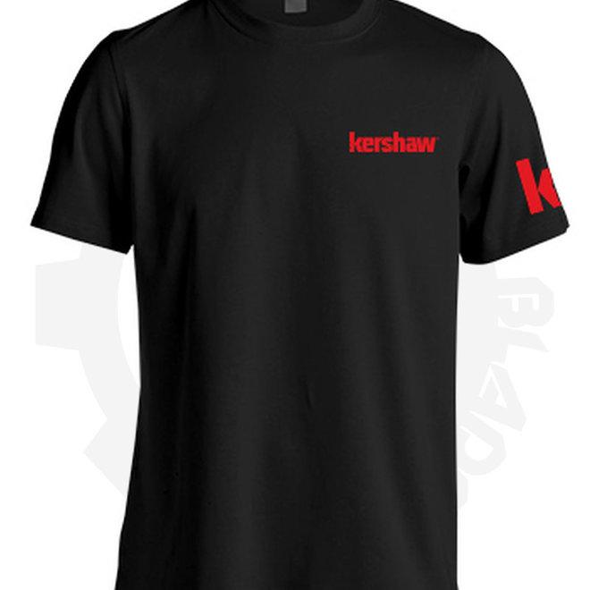 Kershaw '17 T-Shirt Logo Black/Red KERTSHIRTL17 - Large (Apparel - Shirts)