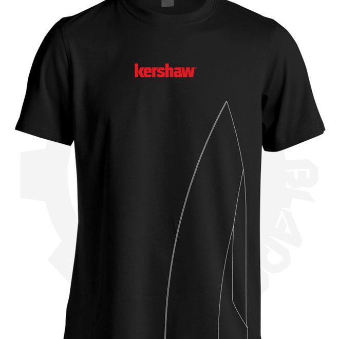 Kershaw Logo Sharp Large SHIRTKER183L - Black & Red (Apparel - Shirts)