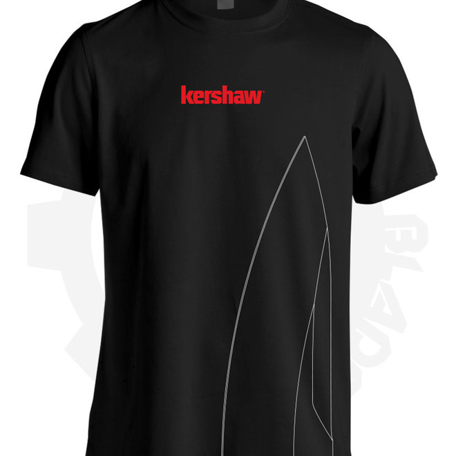 Kershaw Logo Sharp Small SHIRTKER183S - Black & Red (Apparel - Shirts)