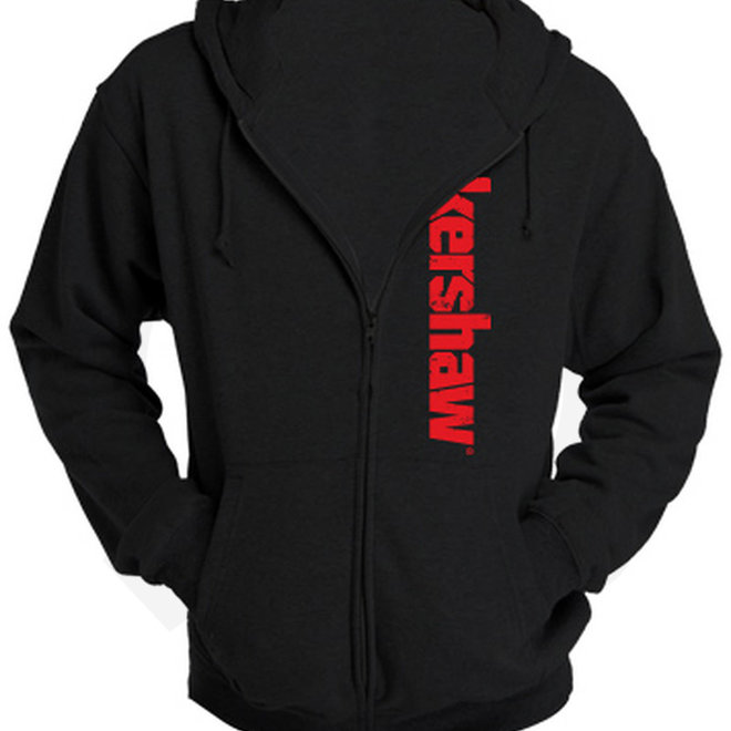 Kershaw '16 Zip Hoodie Black/Red KERZIP16XL - X-Large (Apparel - Shirts)
