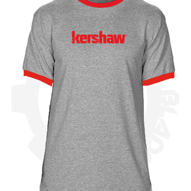 Kershaw '16 T-Shirt Heather Gray/Red KERTEE16L - Large (Apparel - Shirts)