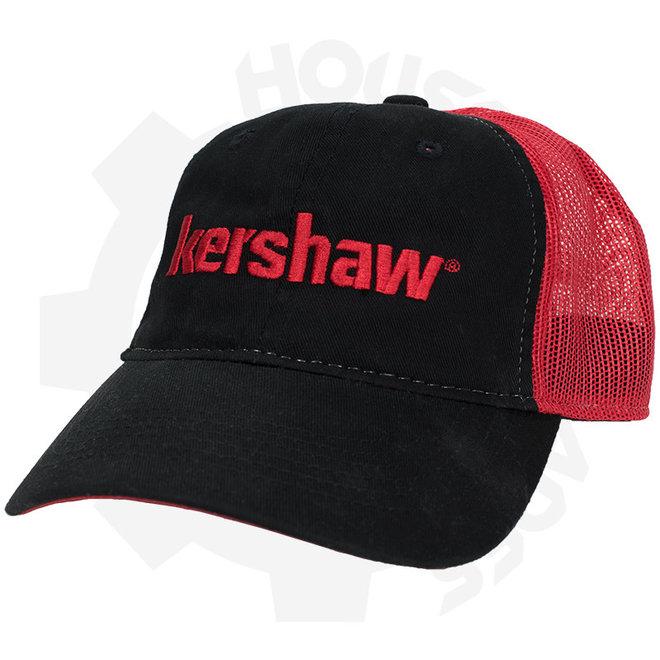 Kershaw Mesh Back CAPKER181 - Black & Red (Apparel - Hats)