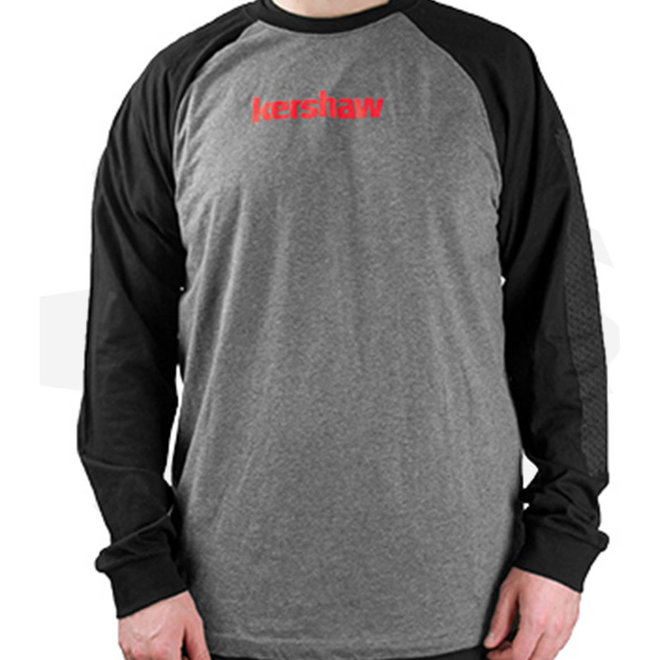 Kershaw Longsleeve Shirt Textured Black/Gray TSHIRTKERTEXTUREM - Medium (Apparel - Shirts)