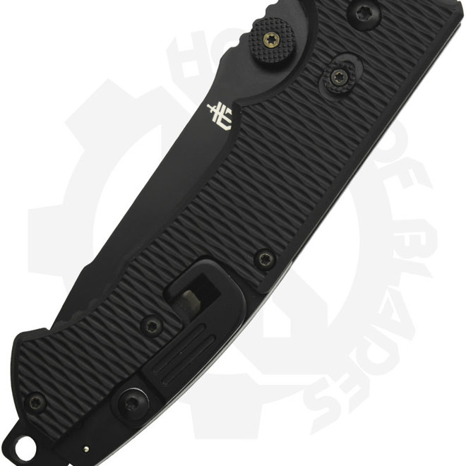 Gerber Hinder Rescue CLS 22-01870 - Black/Partially Serrated (Manual Flipper Knife)