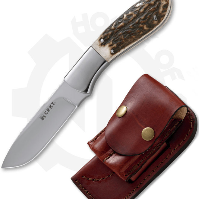 CRKT  Grandpa's Favorite  2845 - Stag (Fixed Blade Knife)