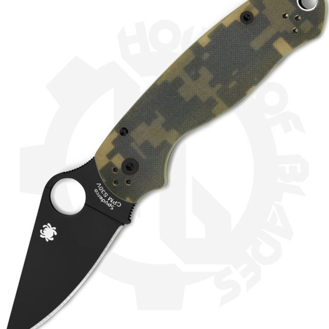 Spyderco Para 3 C223GPCMOBK - Green Camo (Manual Folding Knife)