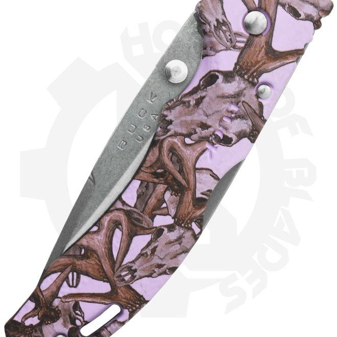 Buck Bantam Medium Deer Skull 0285CMS16 - Lavender (Manual Folding Knife)