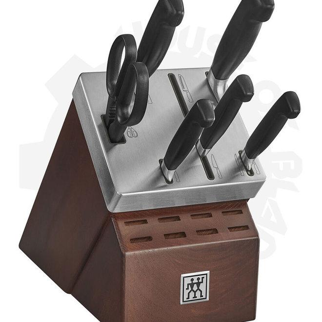Zwilling J.A. Henckels 33423-008 Four Star 7-pc Self-S Black Kitchen Cutlery Block Set