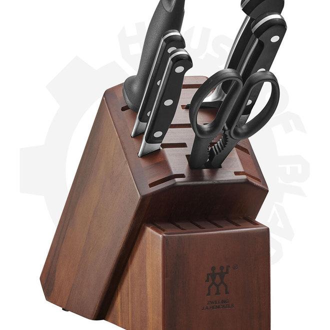 Zwilling J.A. Henckels Pro 38433-108 7-pc Bonus Sharpener Kitchen Cutlery Block Set