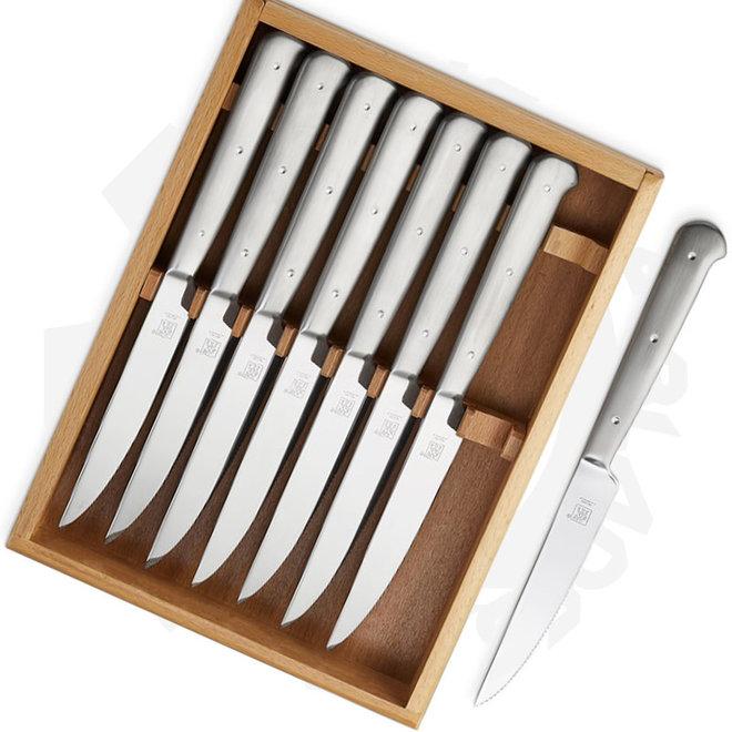 Zwilling J.A. Henckels 39133-850 8 pc Porterhouse  Steak Knife Set Stainless Steel Kitchen Steak Knives