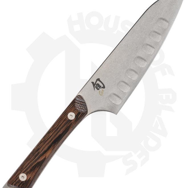 Shun Kanso SWT0727 5.5 in. Hollow Grind Kitchen Santoku Knife