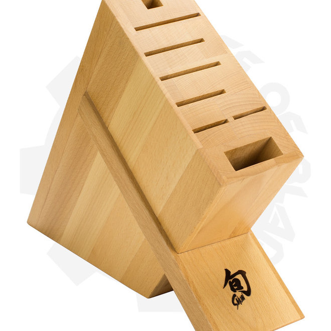 Shun Beech Angled Block: 8-Slot DM0838 - (Storage)