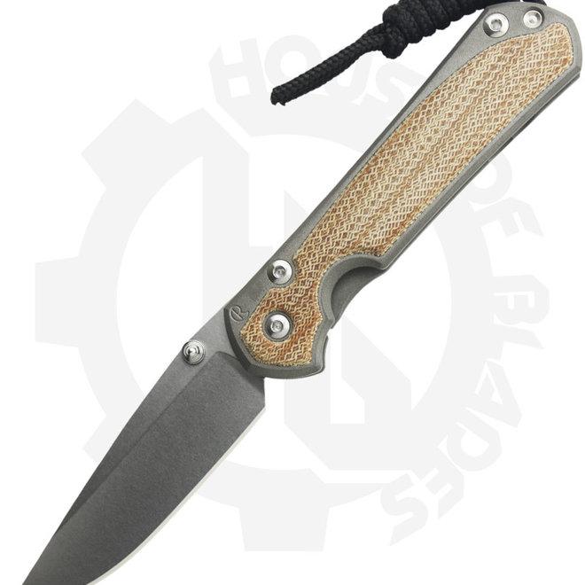 Chris Reeve Knives Sebenza 31 Small Inlay Micarta S31-1212 - Titanium (Manual Folding Knife)