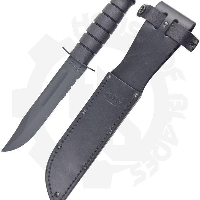 KA-BAR 1212 Fighting Knife   Black Fixed Blade Knife