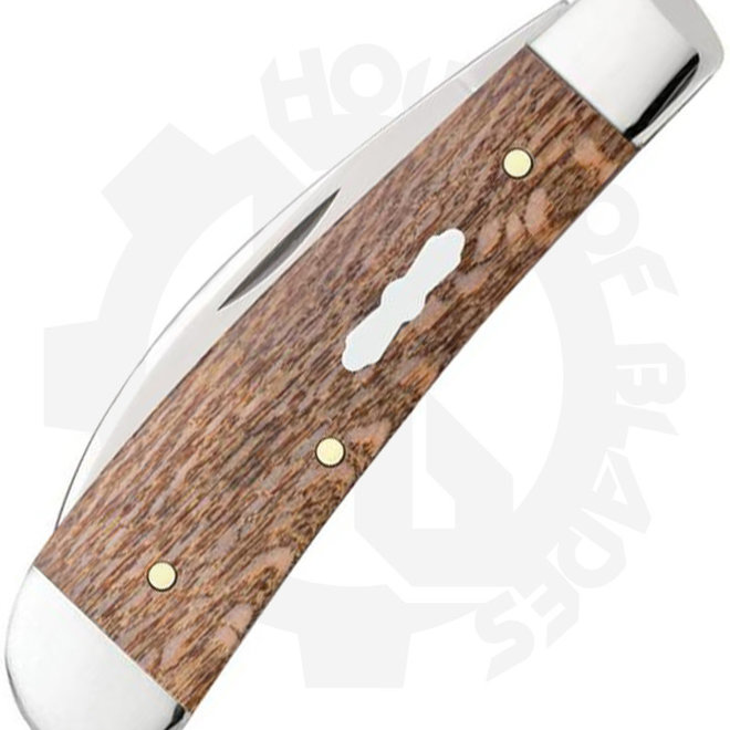 W.R. Case Propeller Sheild Sway Back  27269 - Brown Sycamore Wood (Traditional Knife)
