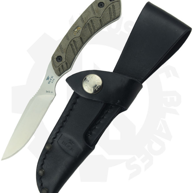 Buck Open Season Camping Knife 0543ODS - OD Green (Fixed Blade)