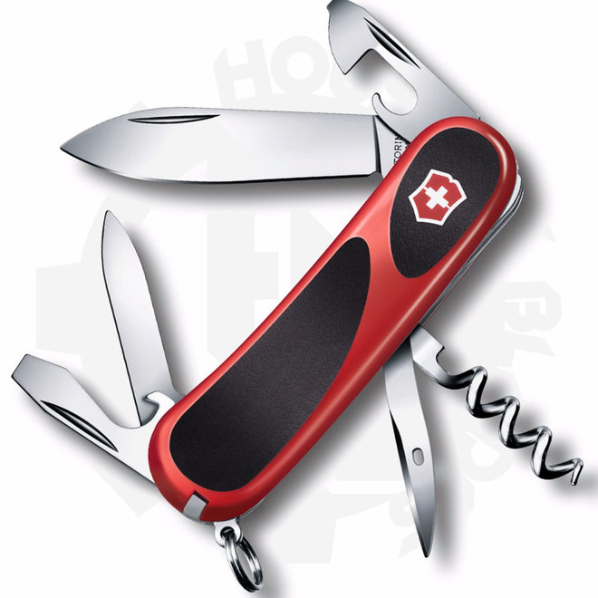 Victorinox 2.3803.CUS2 Evolution Grip 10 Red/Black Multi-Tool