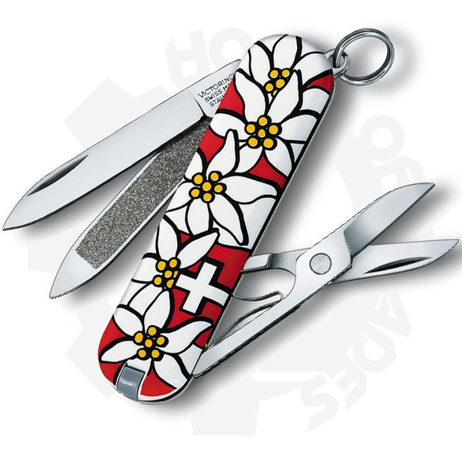 CLASSIC EDELWEISS - 58MM - SWISS ARMY VICTORINOX RED EDELWEISS CLASS VN54719