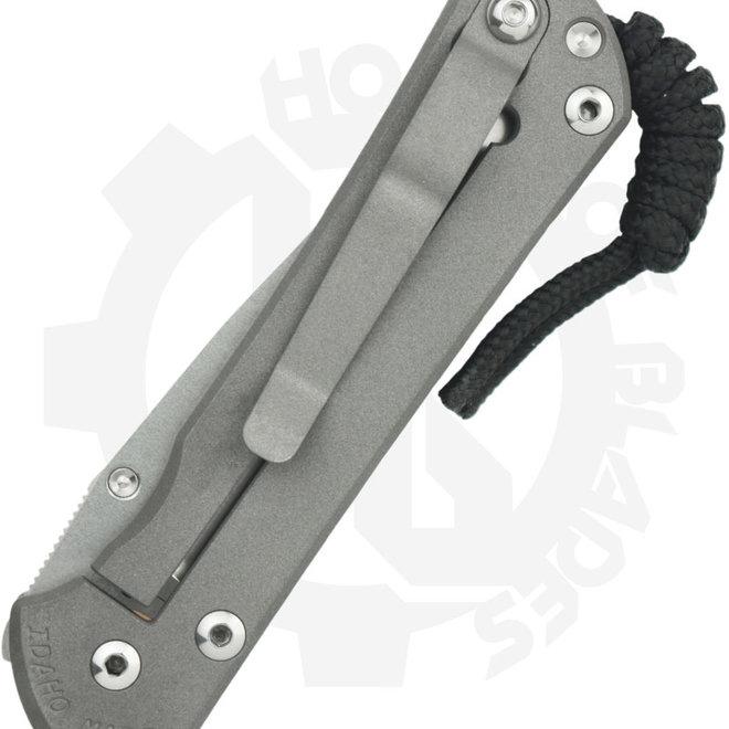 Chris Reeve Knives Sebenza 31 Small Chainmail S31-1502 - Titanium (Manual Folding Knife)